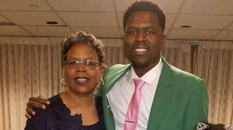 Wyandanch''s Kenny Jones, pictured with his mom, Lisa