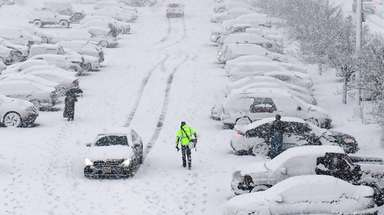 The Ronkonkoma LIRR station parking lot on March