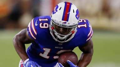 Bills wide receiver Corey Coleman gets wrapped up