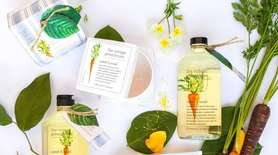 Botanical body products sugar beet and blossom, carrot