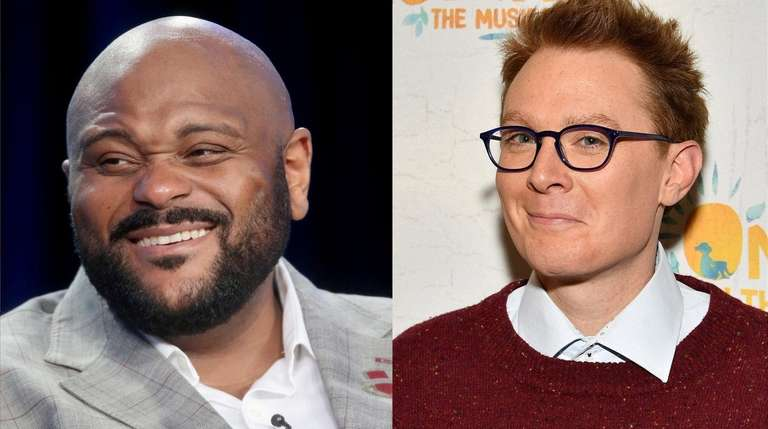 """American Idol"" stars Ruben Studdard and Clay Aiken"