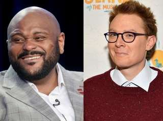 """American Idol"" stars Ruben Studdard and Clay Aiken"