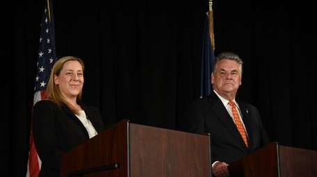 Republican Rep. Peter King (R-Seaford) and his Democratic