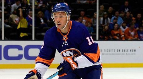 Islanders' Jan Kovar skates against the Flyers at