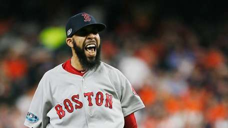 Boston's David Price, who got the win, after
