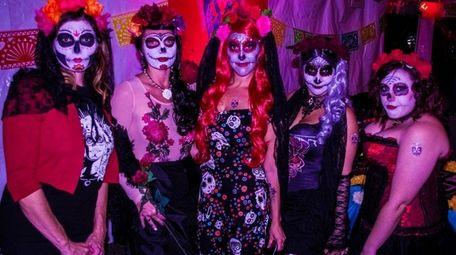 Attendees dressed in Sugar Skull regalia at last