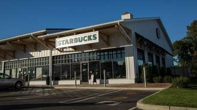 The Starbucks at 1401 Old Country Rd. in