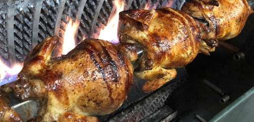 Rotisserie chicken is a specialty at El Encanto