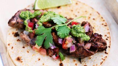 A filet mignon taco at Pure Shore Kitchen