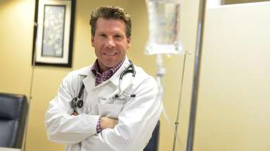 Dr. Jeff Vacirca poses at his office in