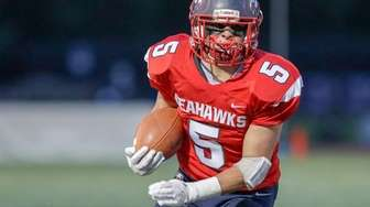 Richie Striano #5 of Cold Spring Harbor carries