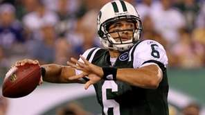 Quarterback Mark Sanchez #6 of the New York