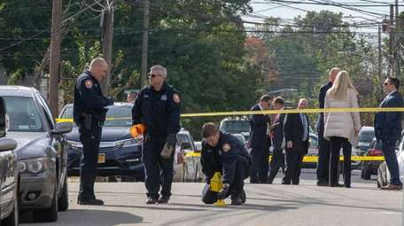 Police investigate a shooting Wellesley Street in Hempstead