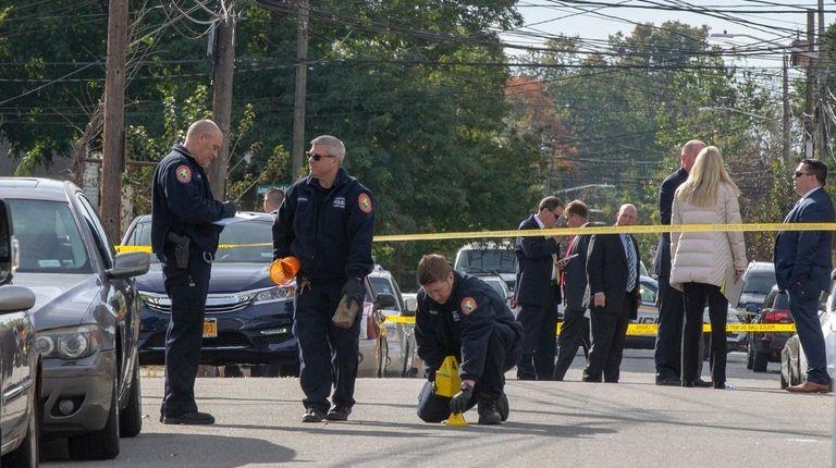 Police investigate a shooting Wellesley Street in Hempstead