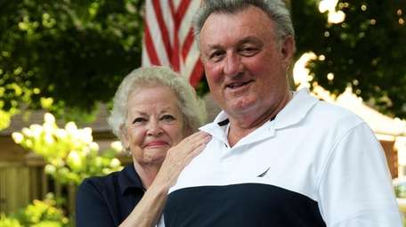 Lawrence Keating with his wife, Diana, at home