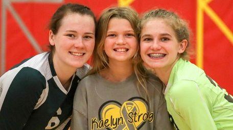 Sisters Shay, left, Kaelyn and Riley McCandless at
