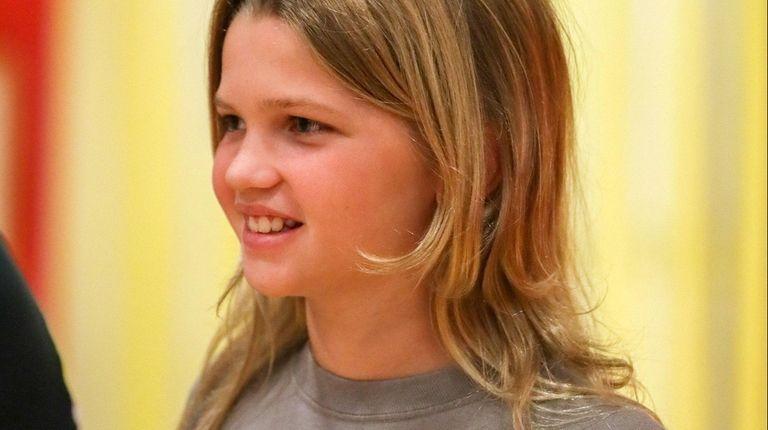 Kaelyn McCandless of Lindenhurst, who is battling cancer,