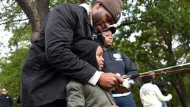 Keith Allison and his son Keith Jr., 6,
