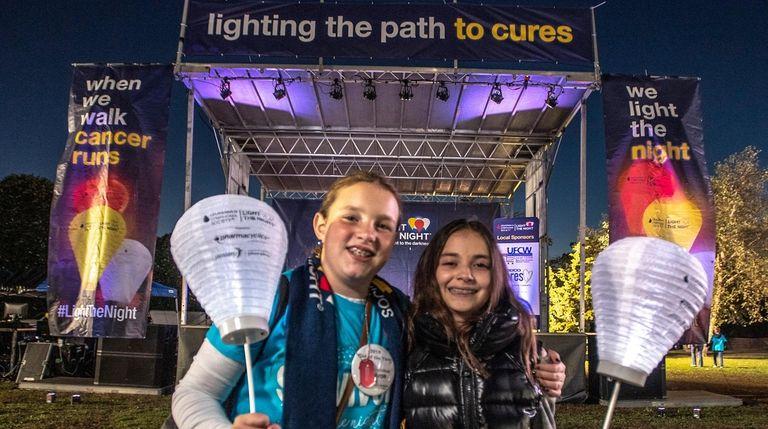 Olivia Macchio, 11, and Seraphina O'Brien, 12, were