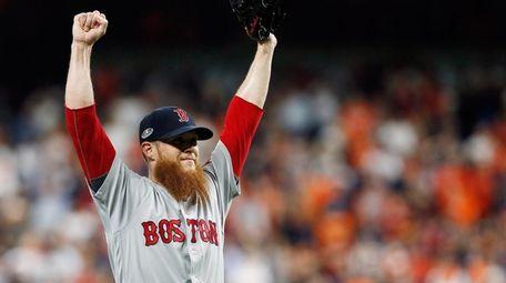 Craig Kimbrel of the Boston Red Sox celebrates