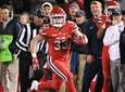 Stony Brook running back Donald Liotine runs for