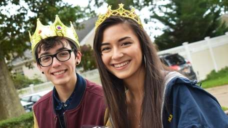 Homecoming king Jack Graziano, 16, and queen Chelsea