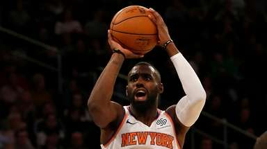 The Knicks' Tim Hardaway Jr. takes a shot