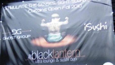 August, 2010. Sign for Black Lantern Ultra Lounge