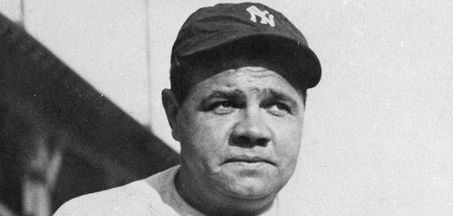 Yankees legend Babe Ruth.