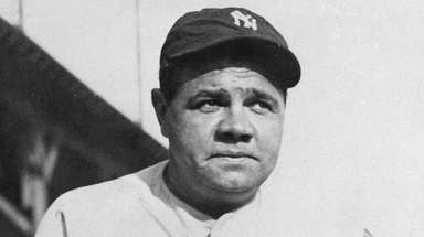 Yankees legend Babe Ruth.