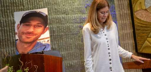 Linda Beigel Schulman, mother of Scott Beigel, speaks