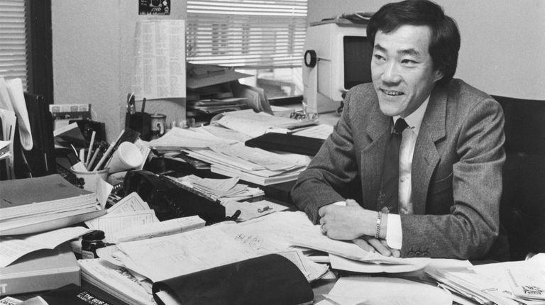 Charles Wang in his office at Computer Associates