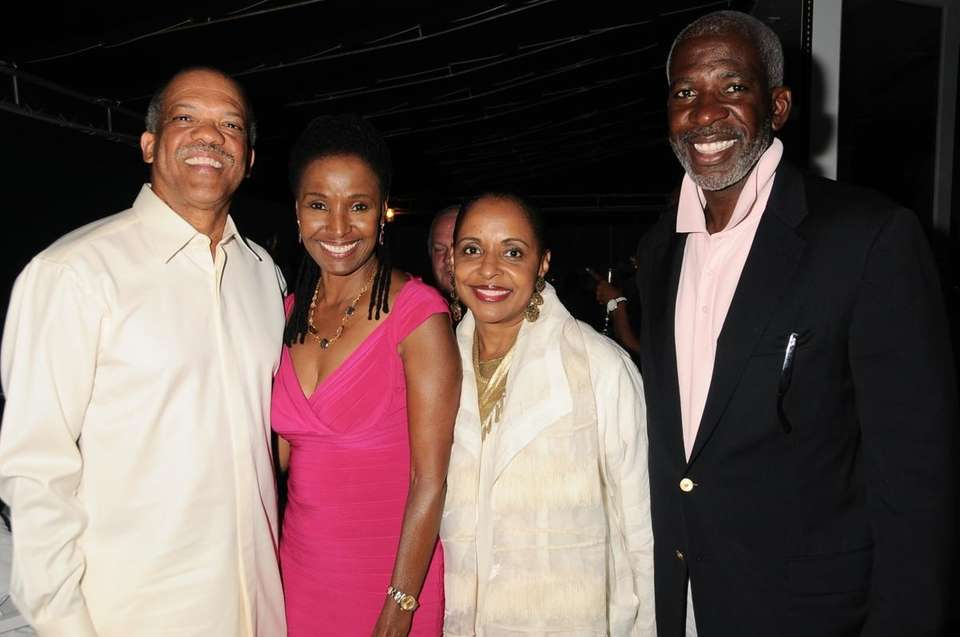 Premier Ewart Brown, B.Smith, Wanda Brown, Dan Gasby