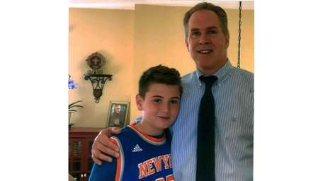 Kidsday reporter Michael Standel and his dad and