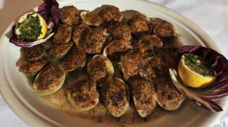 Baked clams at Steve's Piccola Bussola II in