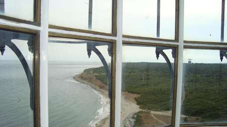 The view from inside the highest point of