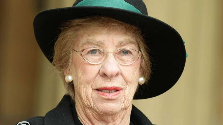 Eva Schloss with her Member of the British