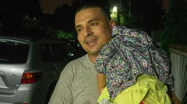 Pablo Villavicencio arrives home in Hempstead after he
