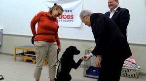 On Monday, Suffolk County Executive Steve Bellone toured