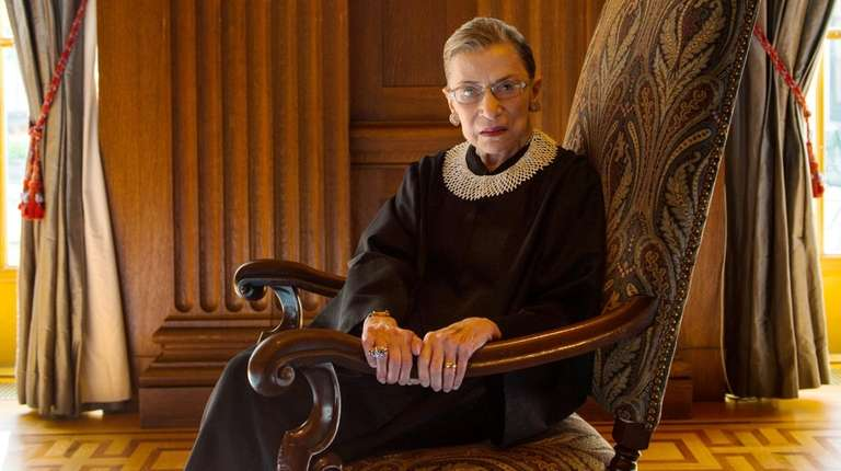 Supreme Court Justice Ruth Bader Ginsburg, photographed in