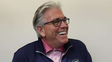 Mike Francesa during an interview at WFAN studios