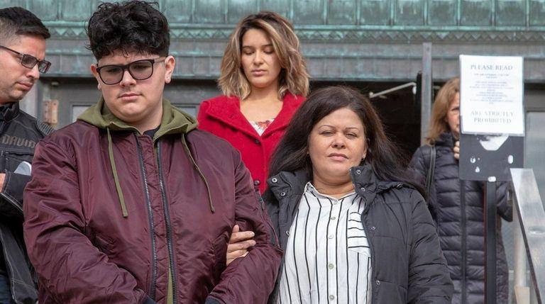 The victim, Nicholas Suarez, 15, leaves Nassau County