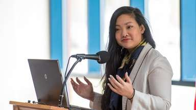 Amanda Nguyen, president and founder of Rise, a