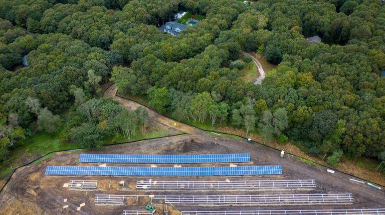 The 1.1 megawatt solar farm in Springs is