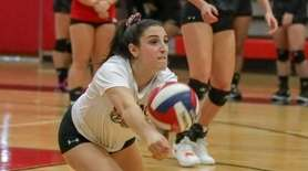 Emily Haber discussed how the Commack girls volleyball