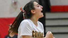Emily Haber #2 of Commack celebrates after a