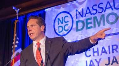 Gov. Andrew M. Cuomo speaks at Nassau Democrats'
