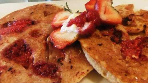 Organic berry pancakes at Park Avenue Grill, Amityville
