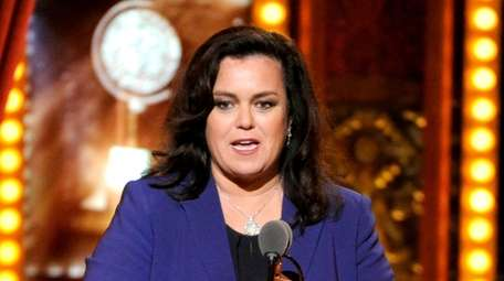 Rosie O'Donnell accepts the Isabelle Stevenson Award at