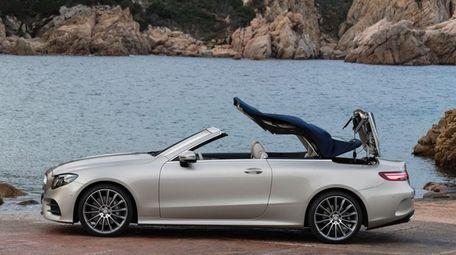 The redesigned 2018 Mercedes E400 Cabriolet balances sport